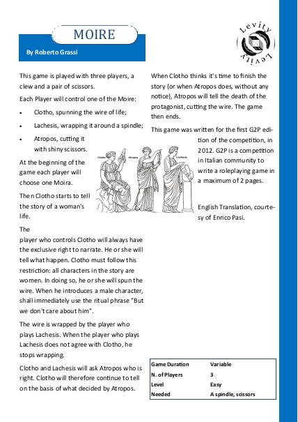 Narration games | Levity d6